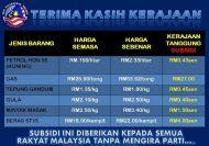 Subsidi yang diterima oleh RakyatMalaysia