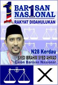 PRK Kerdau – Syed Ibrahim Syed Ahmad CalonBN