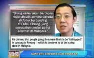 Guan Eng Mohon Maaf Kepada Sultan Johor(kemaskini)
